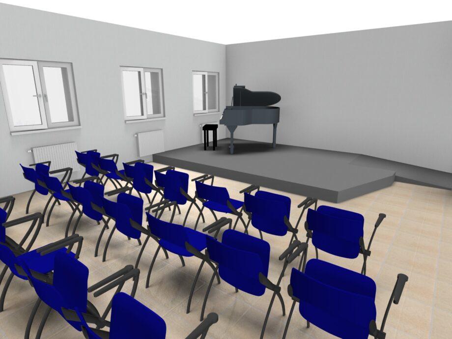 I.T.C. GOBETTI - Progetto Aula concerti TAV. 01.01 - slide 02