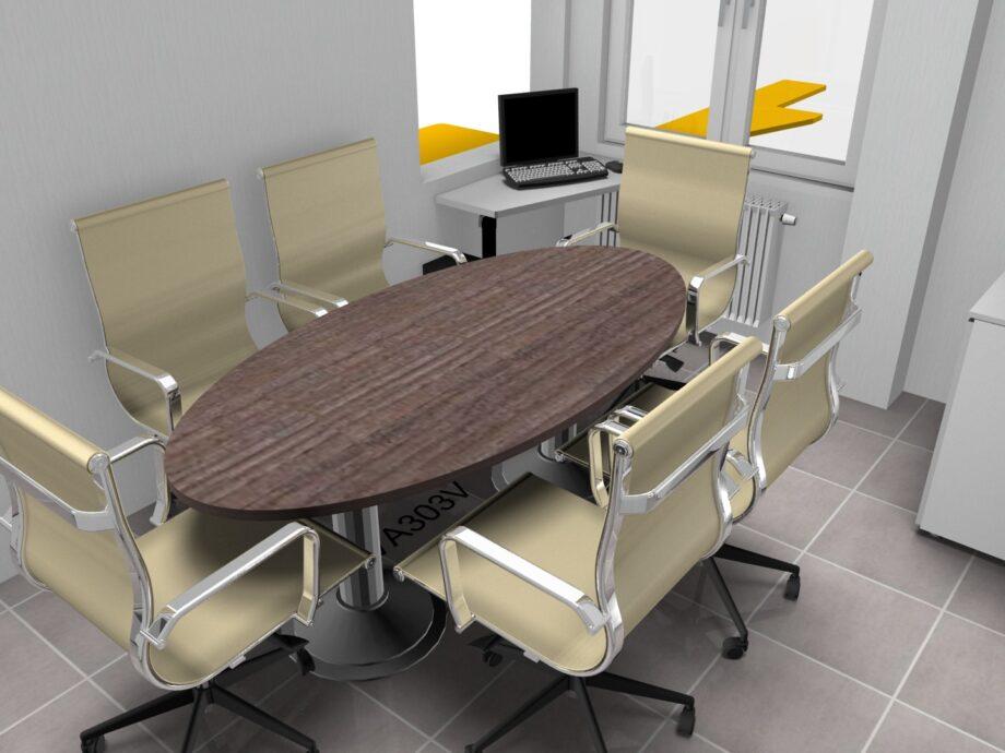 Progetto TMC GROUP TAV.02.01 - SLIDE 08 180X100 legno ovale