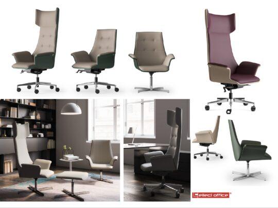 Selezione di sedie per ufficio direzionali #04