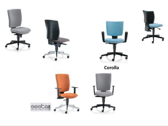 Selezione di sedie per ufficio operative #07