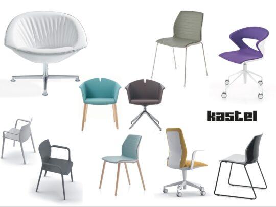 Selezione di sedie per ufficio visitatore e comunità #09