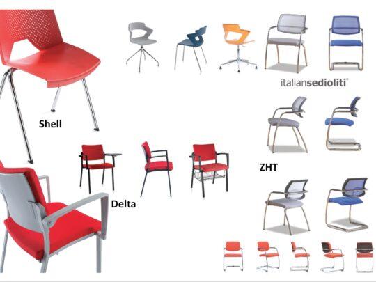 Selezione di sedie per ufficio visitatore e comunità #12